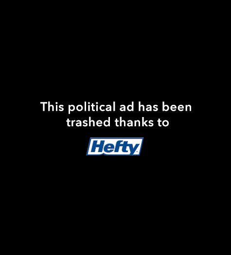Hefty Trashes Political Ads